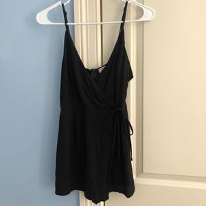 Tobi Black Tank Top Romper!